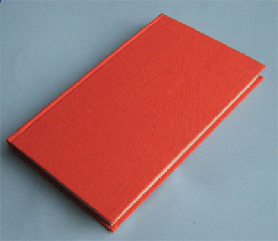 A hard back case has been put onto the book.