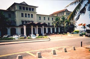 The front of the Galle Face Hotel
